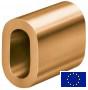 Kupfer Ovalklemme, Presshülse