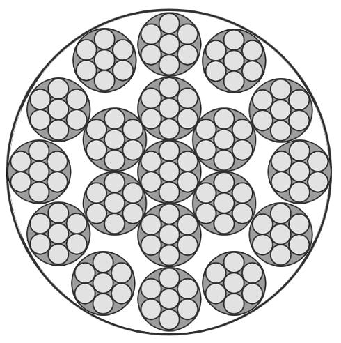 Edelstahlseil, 18x7+WSC (drehungsarm/sehr flexibel)