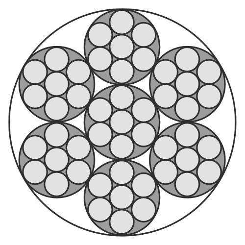 Edelstahlseil, 7x7 (halbweich/flexibel)