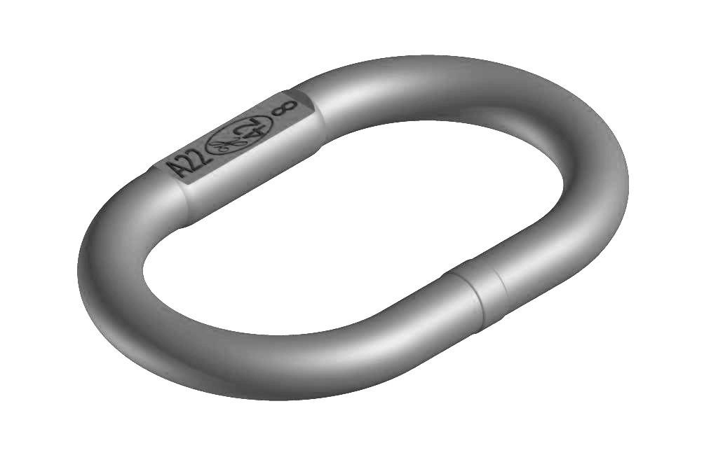 INOX Aufhängeringe, Edelstahl (für ein- und zweisträngige Ketten)