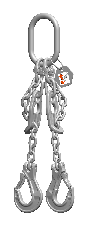 INOX Zweistrang-Kettengehänge - EDELSTAHL Güteklasse 6