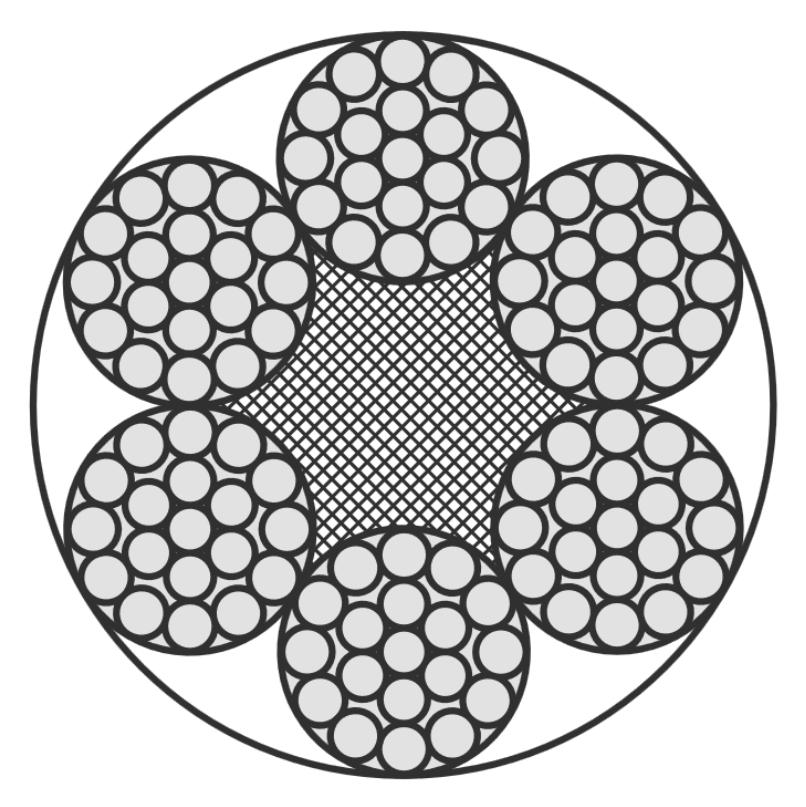 Edelstahlseil, 6x19+PP (weich/sehr flexibel)
