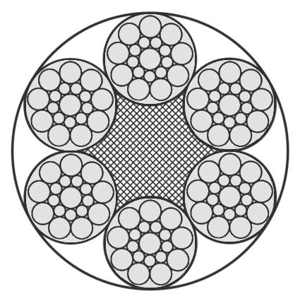Edelstahlseil, 6x19S+PP (weich/sehr flexibel)