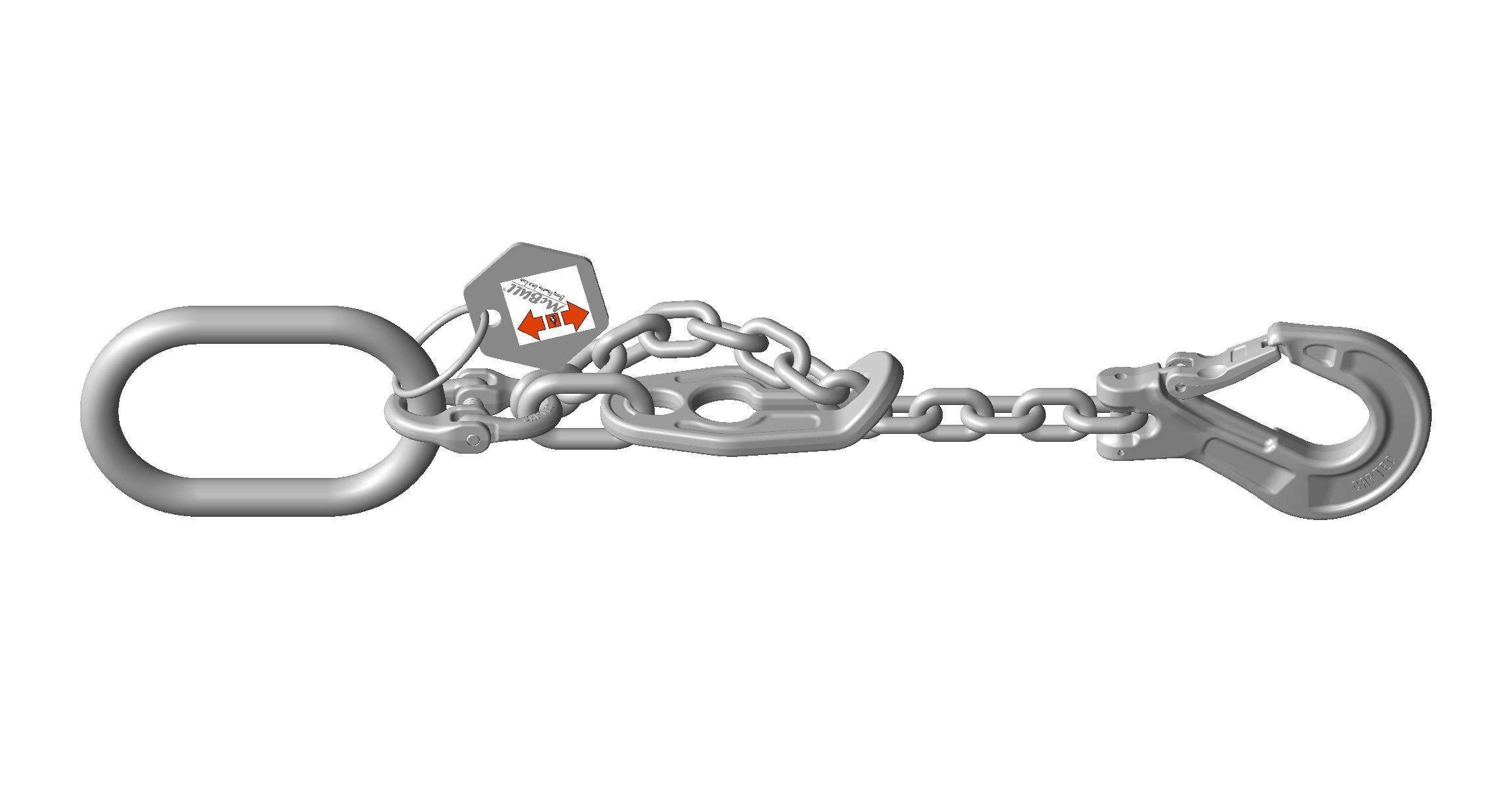INOX Einstrang-Kettengehänge - EDELSTAHL Güteklasse 6