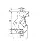 Gabelkopfhaken Zeichnung