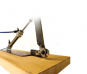 Tischdrahtseilschere, pneumatisch, Holzunterbau