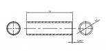 Stoßverbinder aus Edelstahl, Zeichnung